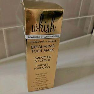 Whish exfoliating foot mask NEW sealed box